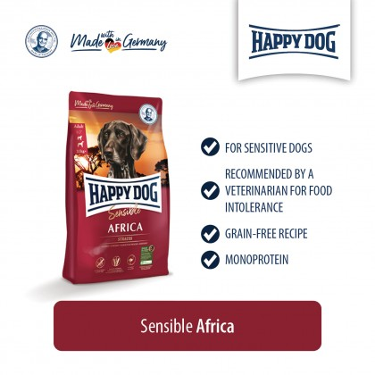 HAPPY DOG DRY FOOD SUPREME SENSIBLE AFRICA 4KG